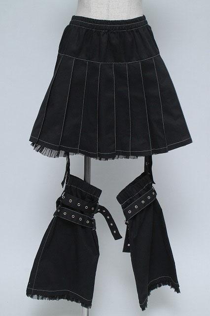 PUTUMAYO / ブーツカバー付プリーツスカート