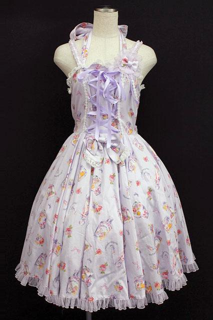 metamorphose / フラワーボトルサーキュラージャンパースカート&ヘッドドレス