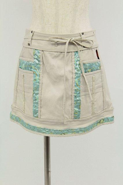 Ozz oneste / サテン切替ラップスカート