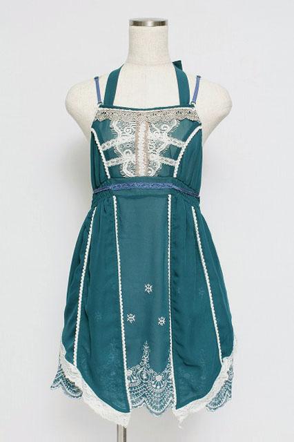 OZZ ANGELO / 裾刺繍スカラップベビードール