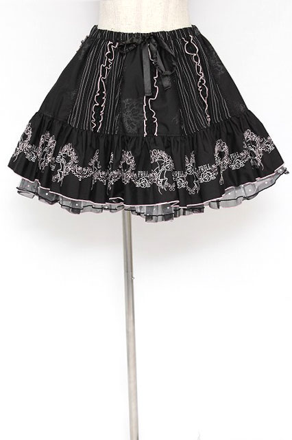 FRILL / リボンリース刺繍スカート