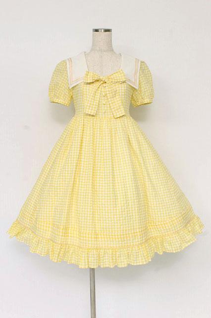 Victorian Maiden / ギンガムドビースクウェアカラードレス