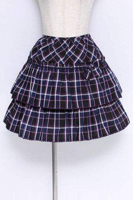 Beth / チェックフリルスカート