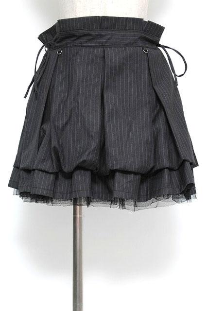 Ozz oneste / ストライププリーツボリュームスカート