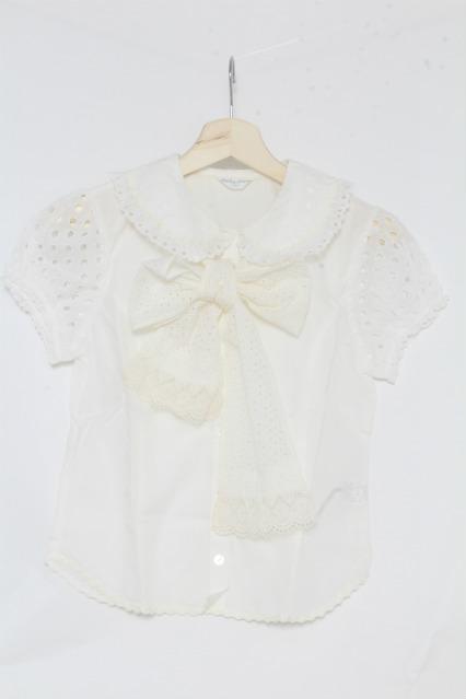 Shirley Temple / ドット刺繍ブラウス