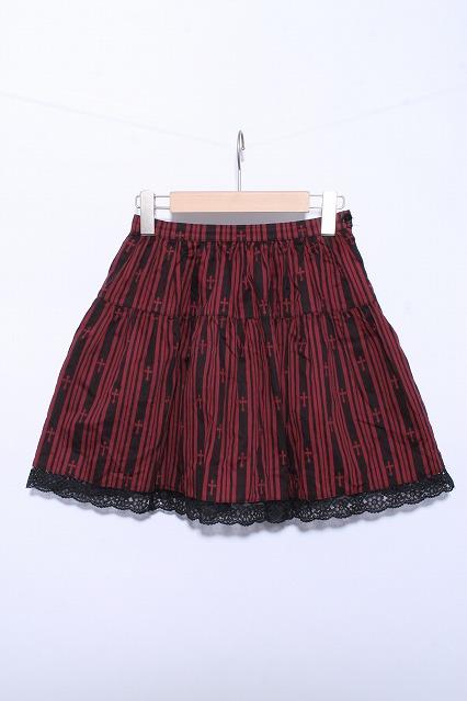 BPN / クロスストライププリントスカート