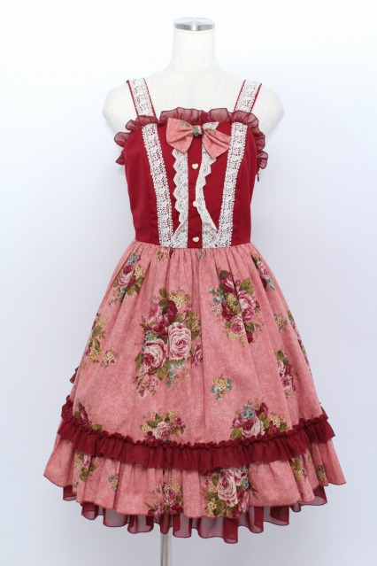 ATELIER PIERROT / 薔薇柄バッスルジャンパースカート