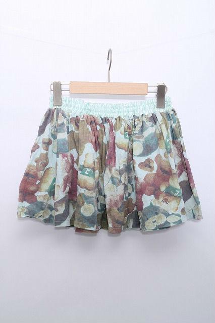 Candy Stripper / くまプリントカットスカート