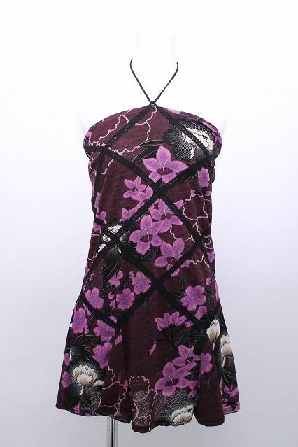 Ozz On / 桜柄ホルターチュニックワンピース