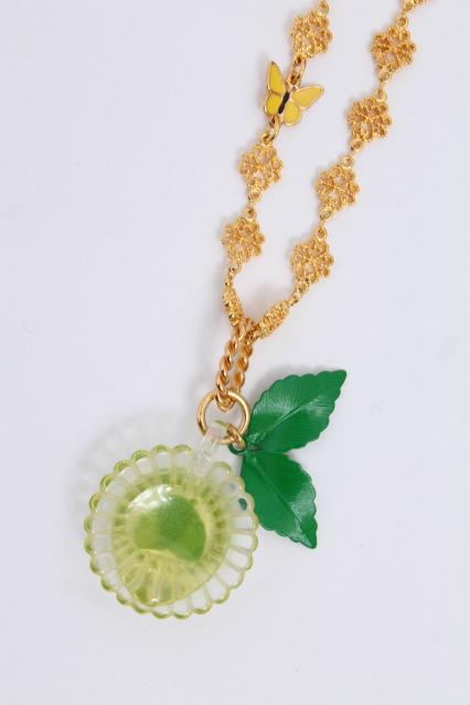 Q-pot. / Mint tea Cup Necklace