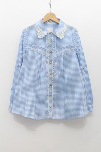 axes femme / ギンガムチェックシャツ