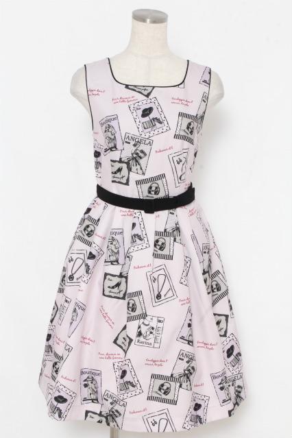 F i.n.t / 額縁プリントジャンパースカート