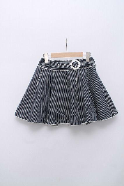 metamorphose / ペンシルストライプベルト付きスカート