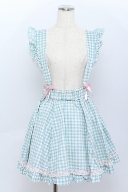 Nile Perch / チェック吊りスカート