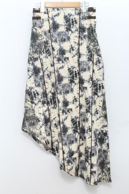 Ozz Croce / ムラ染めアシメスカート