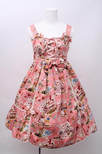 metamorphose / お菓子のお家ハイウエストジャンパースカート