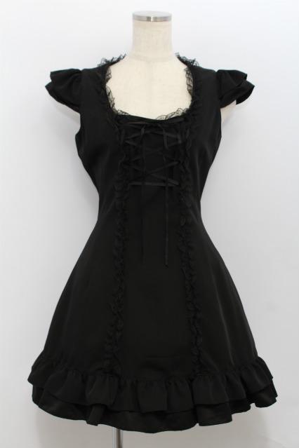MARBLE / 胸元編み上げジャンパースカート