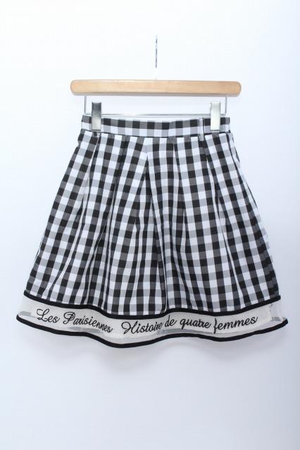 F i.n.t / 裾刺繍ギンガムスカート