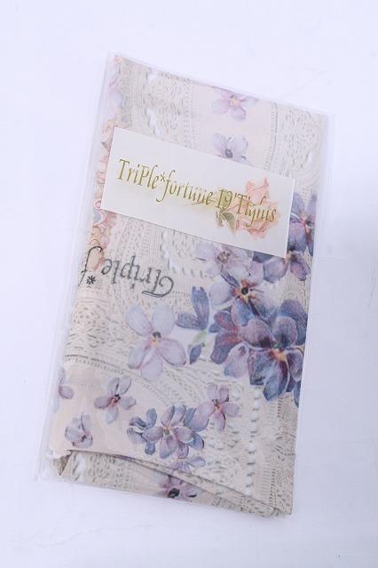 Triple fortune / 花柄オーバーニー