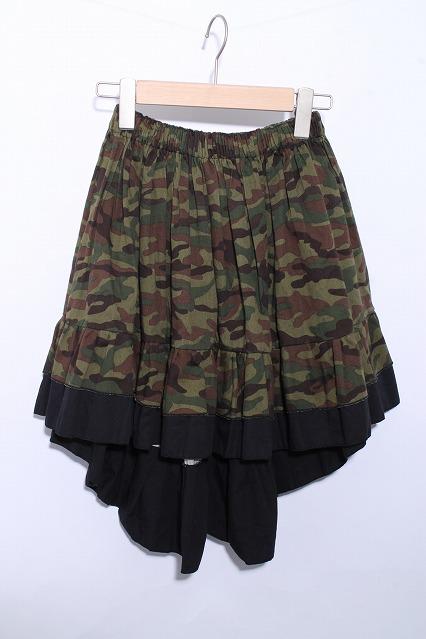 Dangerous nude / 迷彩柄イレギュラースカート