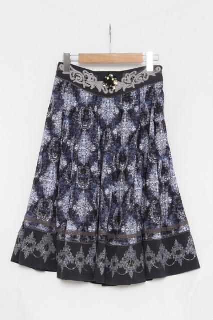 Rozen Kavalier / ウエストビジュー総柄スカート