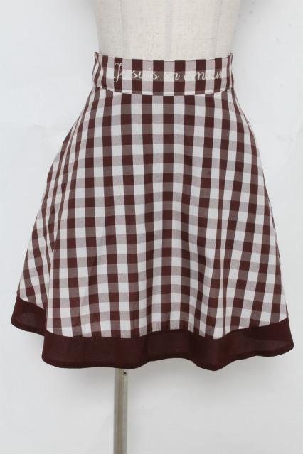 F i.n.t / ベルトロゴ刺繍ギンガムチェックフレアースカート