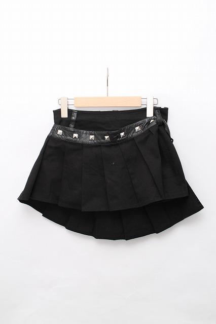 HELL CAT PUNKS / プリーツスタッズオーバー付ミニスカート