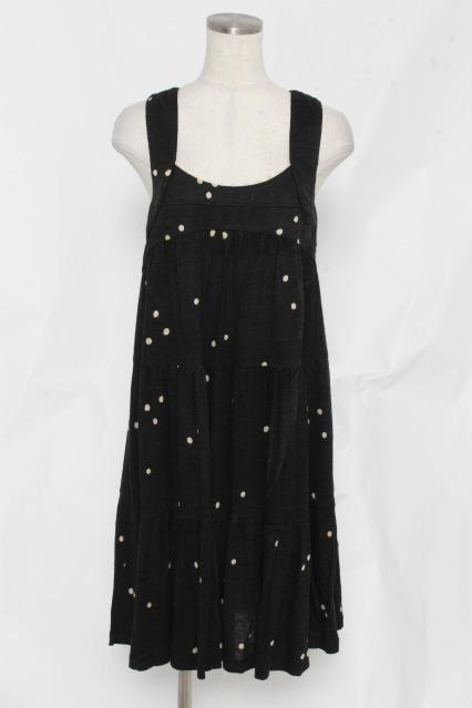 franche lippee / ドット刺繍ジャンパースカート