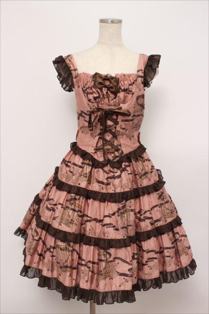 metamorphose / Rose cageティアードジャンパースカート