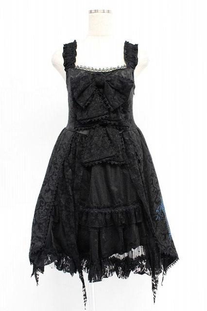 FRILL / クロスステッチジャガードドレス