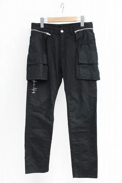 MINT NeKO / 電波刺繍フラップ付パンツ