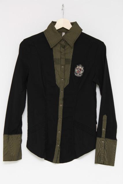 Rozen Kavalier / エンブレムスナップボタンシャツ