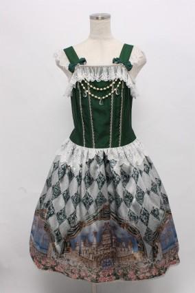 Enchantlic Enchantilly / 白鳥物語?薔薇の雪解け?ジャンパースカート