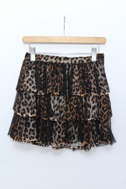 SEXY DYNAMITE LONDON / レオパード柄チュール重ね3段スカート