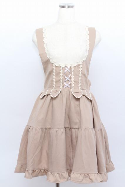 Amavel / フラワーレースのティアートジャンパースカート