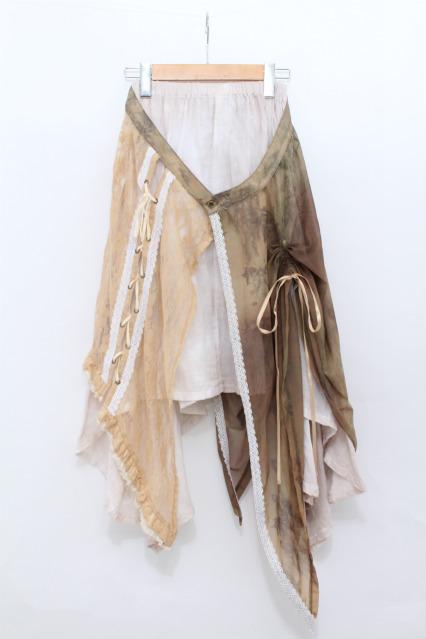 STEAM / オーバースカート付きガーゼスカート