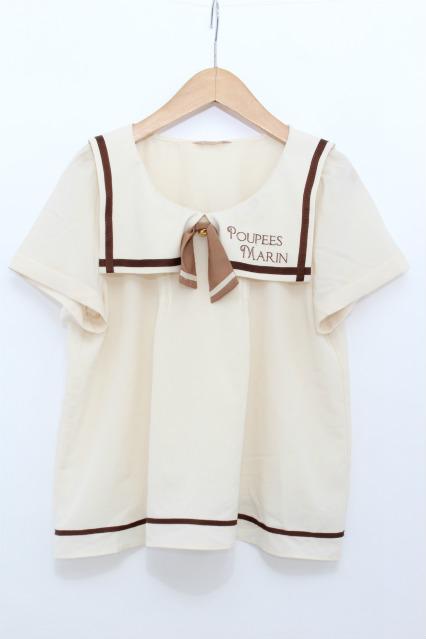 Amavel / 刺繍セーラー衿ブラウス