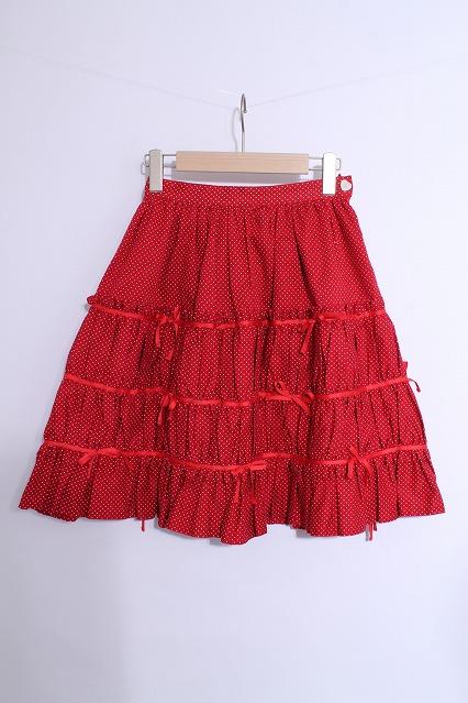 Beth / ドット柄リボンスカート