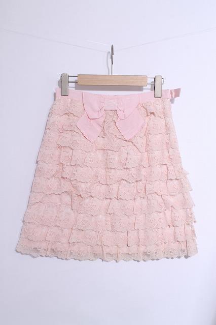 JESUS DIAMANTE / 薔薇レースティアードリボンスカート