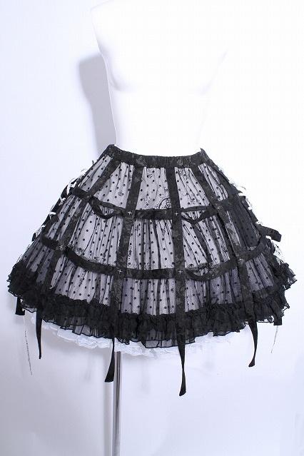 FRILL / ドットチュール鳥籠スカート