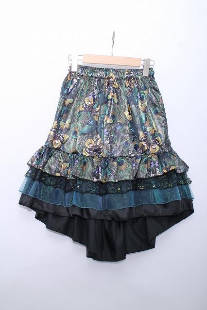 Dangerous nude / 孔雀の羽根と蝶々のバッスル風フリルスカート